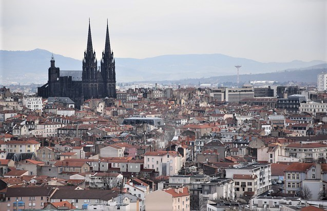Landscape of Clermont-Ferrand, France